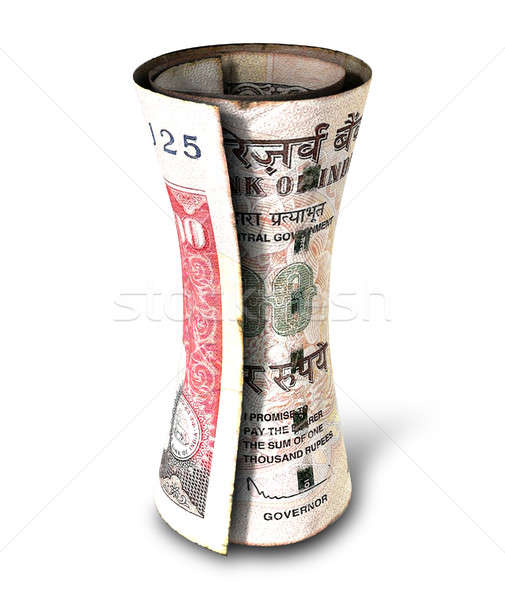 Geld nota regelmatig indian bank Stockfoto © albund