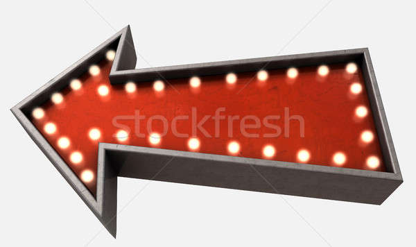 Vintage rosso epoca luce isolato Foto d'archivio © albund