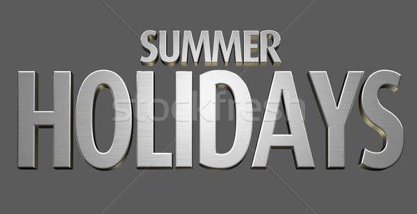Summer Holidays Text Stock photo © albund