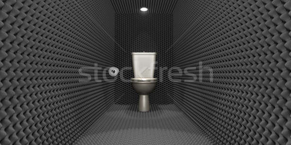 Toilettes cabine papier rouler Photo stock © albund