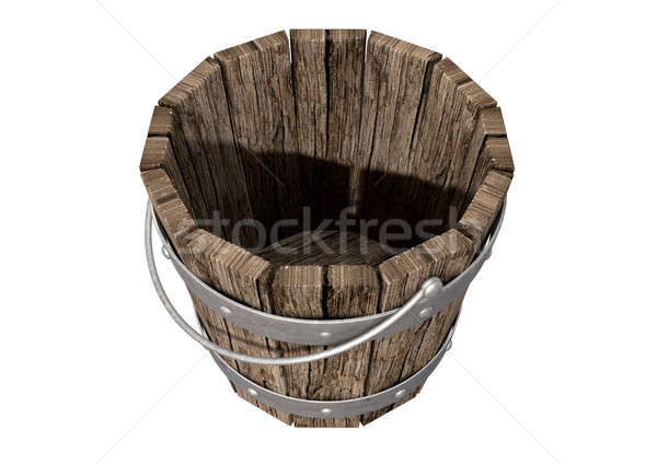 Vintage Wooden and Metal Bucket Stock photo © albund
