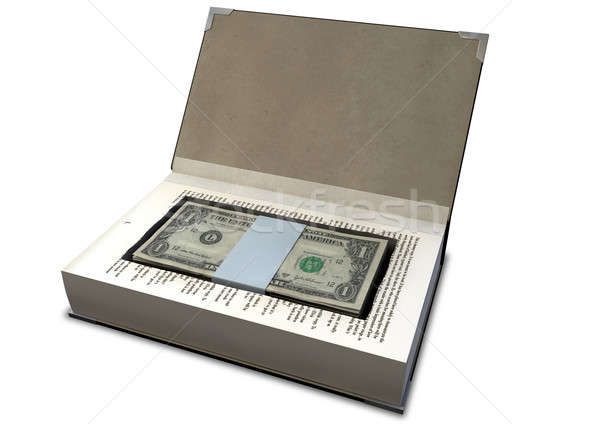 Concealed Cash In A Book Perspective Stock photo © albund