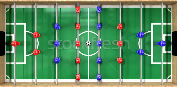 Foosball Table Top View Stock photo © albund