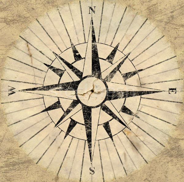 Compass Face Stock photo © albund