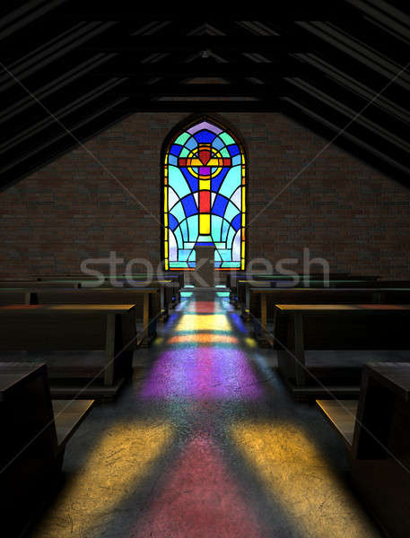 Stained Glass Window Church Stock photo © albund