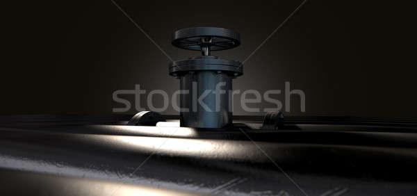 металл клапан Трубы коллекция средний один Сток-фото © albund