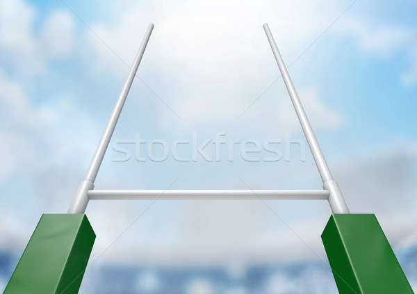 Rugby Posts Stadium Day Stock photo © albund
