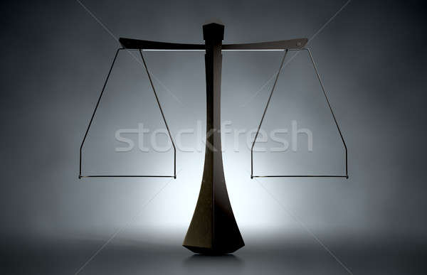 Modern Scales Of Justice Stock photo © albund