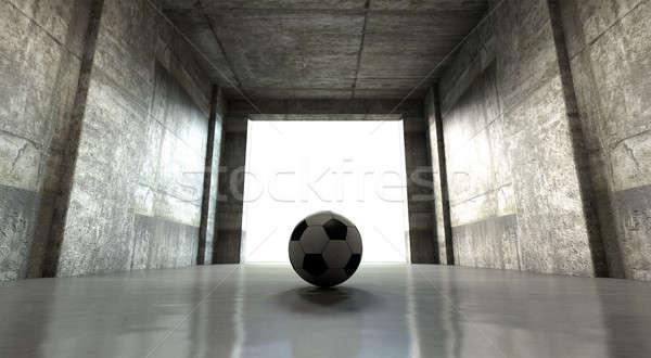 Soccer ball sport stadio tunnel guardare Foto d'archivio © albund