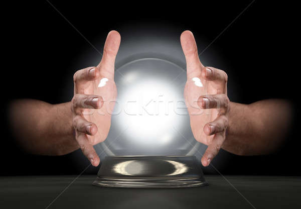 Hands On Crystal Ball Stock photo © albund