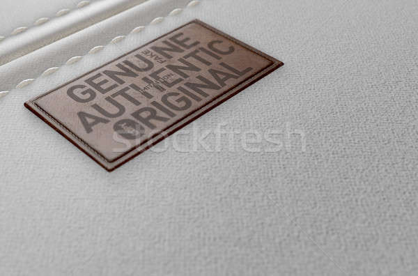 Canvas Material And Leather Label Fake Stock photo © albund