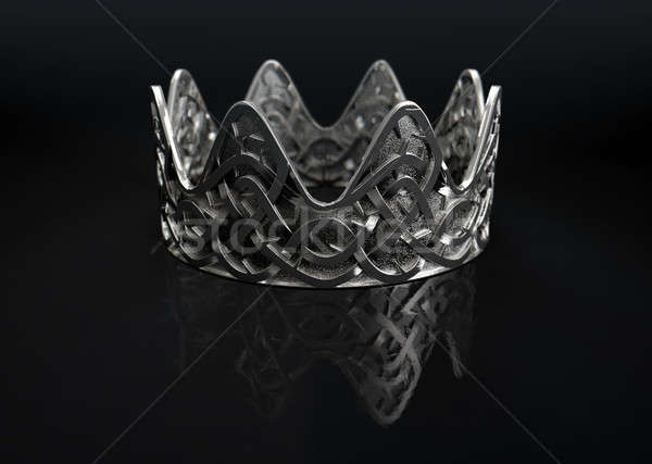Stock photo: Silver Crown With Thorn Patterns