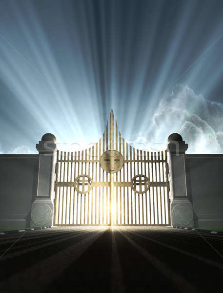 Heavens Pearly Gates Stock photo © albund