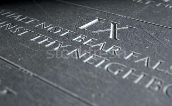 The Ninth Commandment Stock photo © albund