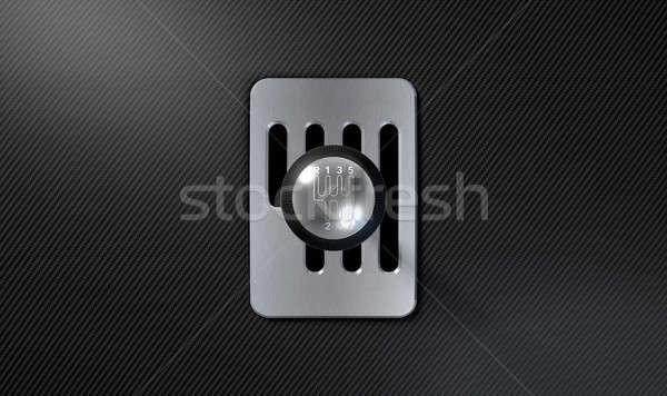 Steel And Chrome Stick Shift Stock photo © albund