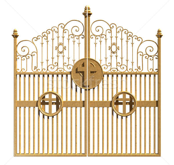 Heavens Golden Gates Isolated Stock photo © albund