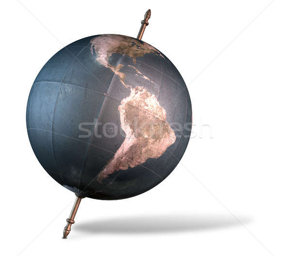 Tilted World Globe Stock photo © albund