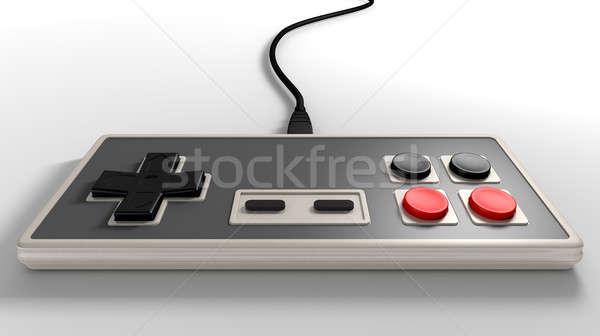 Klasszikus számítógépes játékok rendszeres négyszögletes piros fekete Stock fotó © albund