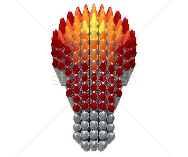 Wax Crayon Lightbulb  Stock photo © albund