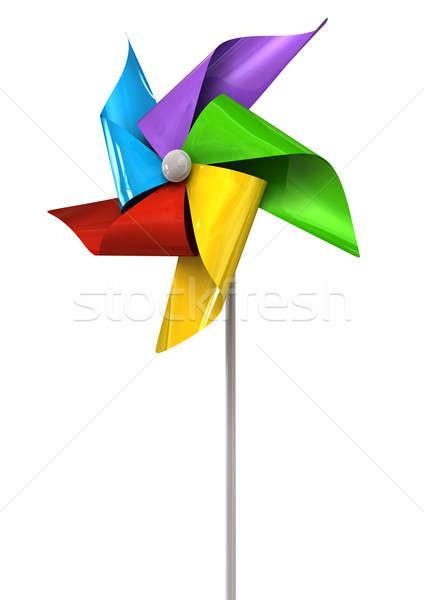 Colorful Pinwheel Perspective Stock photo © albund
