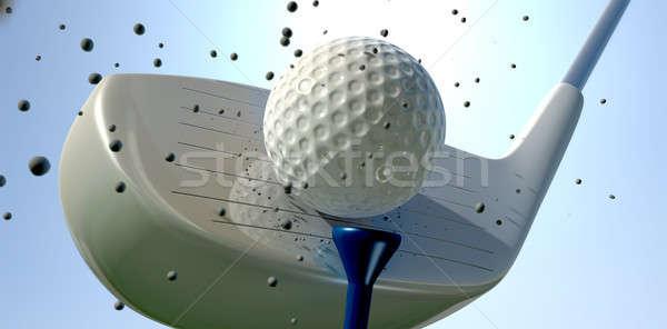 Golf Ball And Club Impact Stock photo © albund