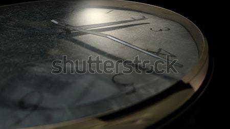 Antique Worn Pocket Watch Dark Stock photo © albund