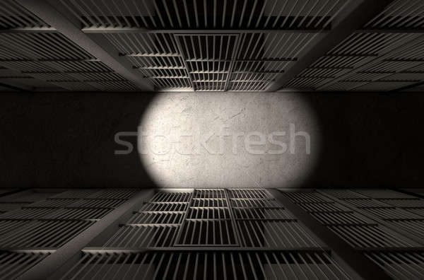 Stock photo: Jail Cell Corridor Top