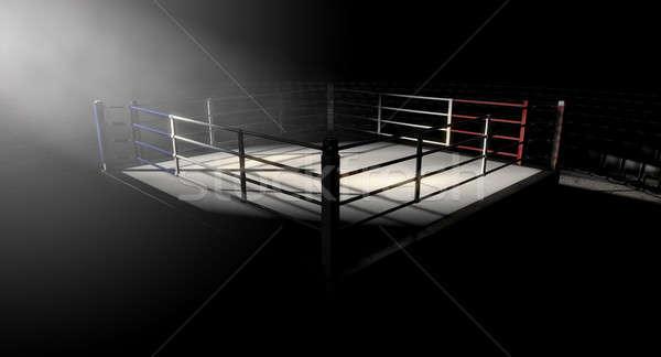 Boxing Ring Corner Lit Stock photo © albund