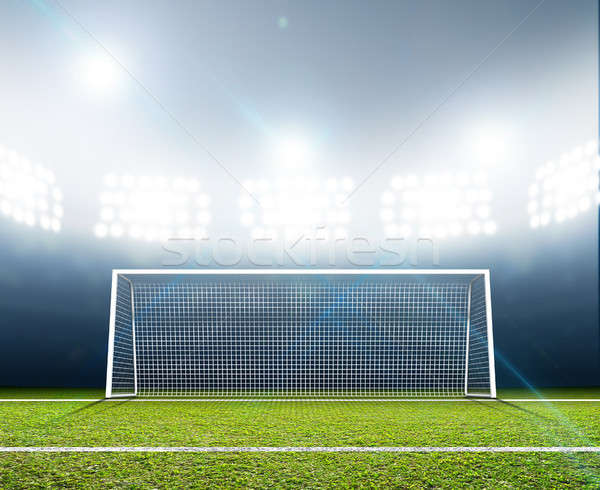Sports Stadium And Soccer Goals Stock photo © albund