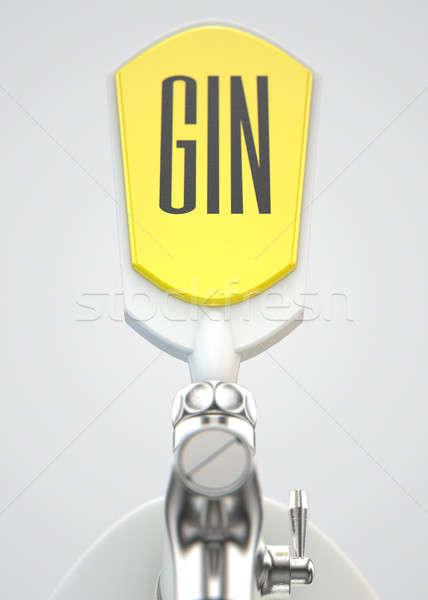Ginebra moderna blanco cromo toque aislado Foto stock © albund