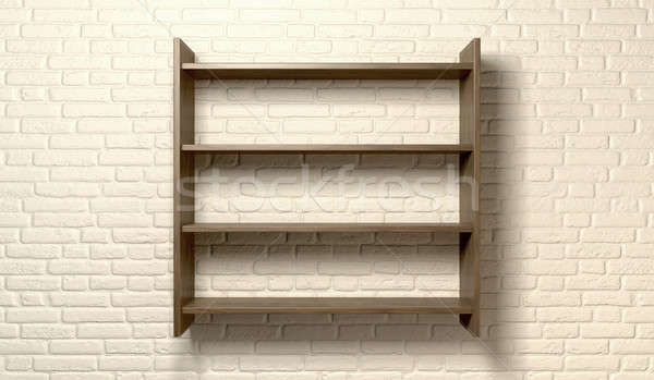 Shelving Unit On A Wall Front Stock photo © albund