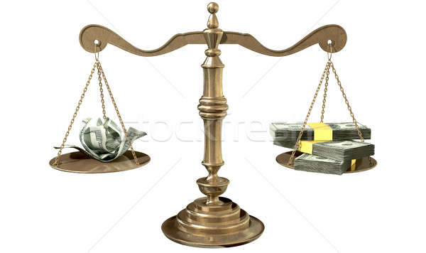 Inequality Scales Of Justice Income Gap USA Stock photo © albund