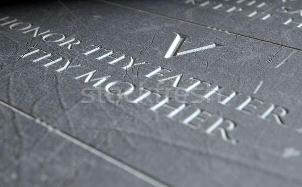 The Fifth Commandment Stock photo © albund