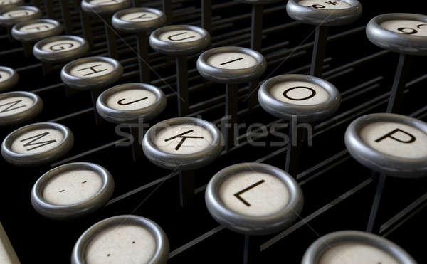 Vintage Typewriter Keys Close Up Stock photo © albund