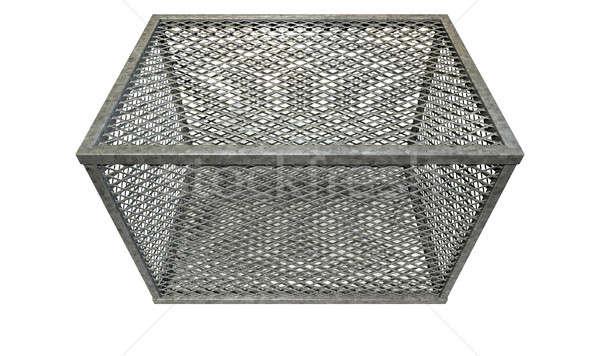 Vacío acero jaula rectangular cubierto diamantes Foto stock © albund