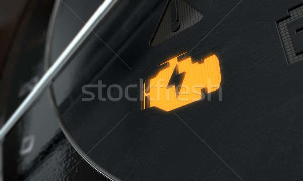 Low Petrol Dashboard Light Stock photo © albund
