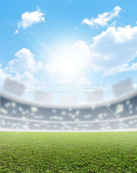 Stade vert gazon générique sport herbe verte Photo stock © albund