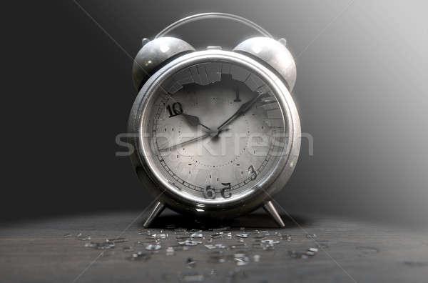 Table Clock Time Run Out Stock photo © albund