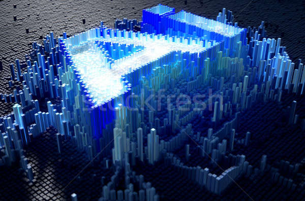 Pixel Artificial Intelligence Stock photo © albund