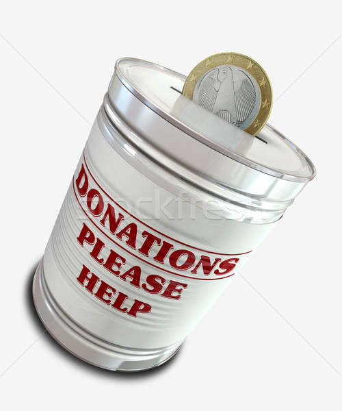 Donation Tin Can Stock photo © albund