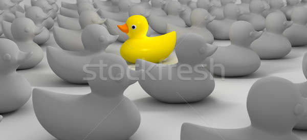 Rubber Duck Against The Flow Stock photo © albund
