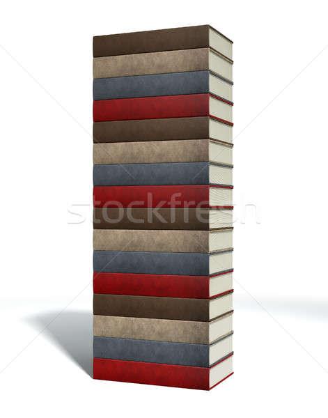 Générique cuir livres isolé Photo stock © albund