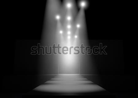 滑走路 ファッション ステージ 光 を見る ストックフォト © albund