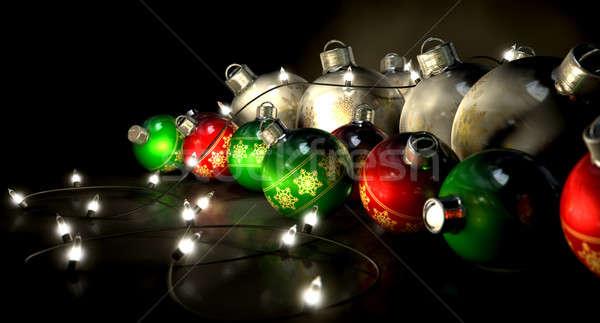 Ornate Christmas Decorations And Lights Stock photo © albund