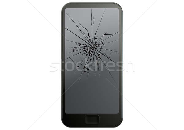 Generic Cracked Smart Phone  Stock photo © albund