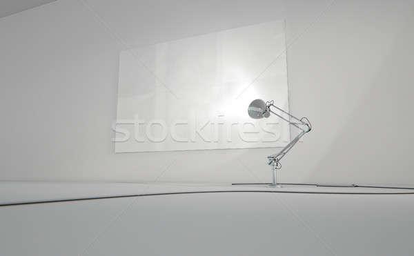 ヴィンテージ ランプ 壁 3dのレンダリング デスク 白紙 ストックフォト © albund