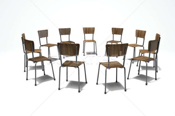 Grup tedavi sandalye 3d render oluşum Stok fotoğraf © albund