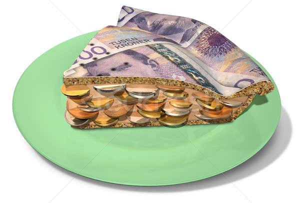 Slice Of Crown Money Pie Stock photo © albund