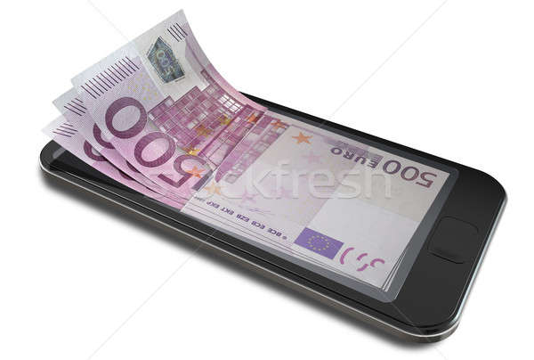 Smartphone Payments With Euro Stock photo © albund