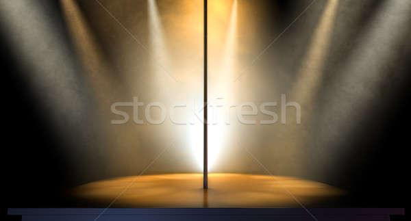 Kutup yalıtılmış sahne ışık Stok fotoğraf © albund